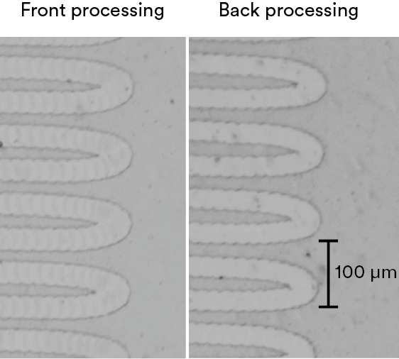 Selective processing Part 2: Thin film patterning on polymer, glass and silicon